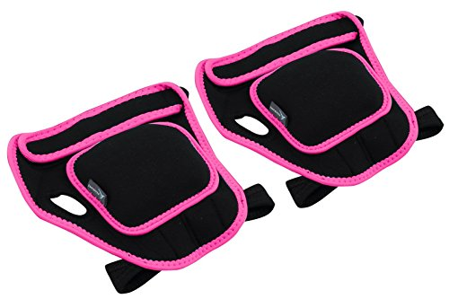 Empower Weighted Gloves for Women, 1 Pound Each Weight Glove, Fitness, Kickboxing, Cardio, Workout, Piloxing, Berry