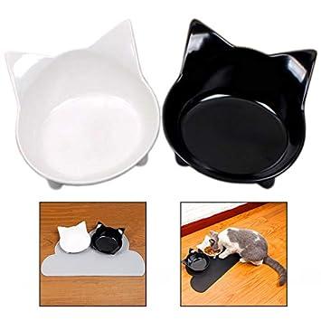 Xrten Cuencos para Gatos, Antideslizante Cuencos Comida para Perros Gatos Mascotas: Amazon.es: Electrónica