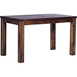 Brazilfurniture Dining Table Rio Pine Dark Brown Solid Wood, Extensions Optional Extendable, Rectangular Shape and…