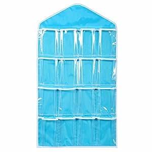 taloyer clear plastic over the door wall hanging bag shoe rack hanger storage closet organizer. Black Bedroom Furniture Sets. Home Design Ideas