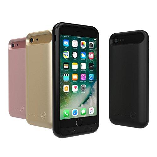 TAMO EDGE 3100 mAh Dual-Purpose Ultra-Slim Protective Extended Battery iPhone 7 Case, Matte Black (Premium Retail Packaging) by TAMO (Image #3)