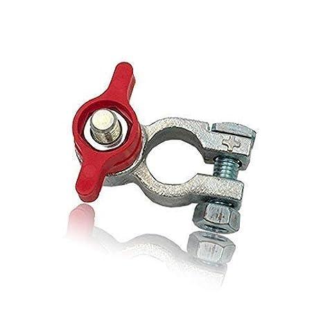 Cosse de batterie robinet coupe batterie + à papillon (Vert Rouge +/-) RKG