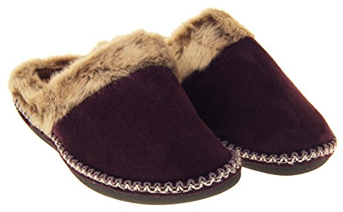 Mule Pantoufles Chaudes Femmes Violet Coolers De xRqIFp