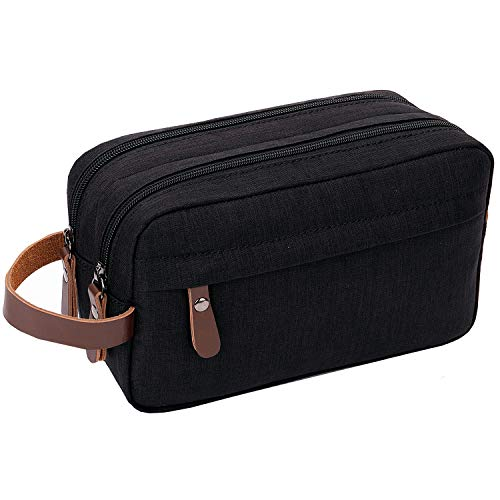 - Mens Toiletry Bag Dopp Kit Travel Bathroom Bag Waterproof Shaving Shower Cosmetic Organizer (Black)