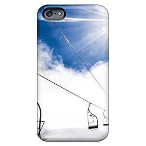 Hot cell phone skins Iphone Hard Cases With Fashion Design Eco Package iphone 4s - mountain ropeway ski resort