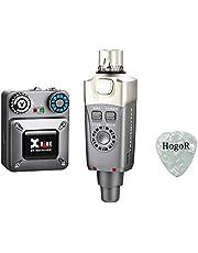 Xvive U4 sistema de monitor inalámbrico de oído profesional IEM sistema transmisor y receptor de correa para estudio, ensayo de banda, rendimiento en vivo, grabación de cámara con púas de guitarra HogoR
