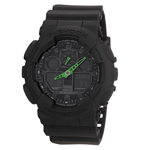 358c77842fcd Casio Reloj Analógico-Digital para Hombre de Cuarzo con Correa en Resina GA -100C-1A3ER  Amazon.es  Relojes