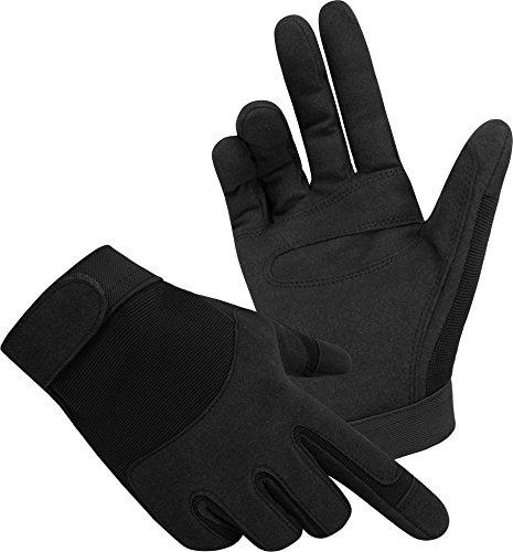 Tactical Army Gloves Herrenhandschuhe aus Spezialkunstleder Farbe Schwarz Größe M