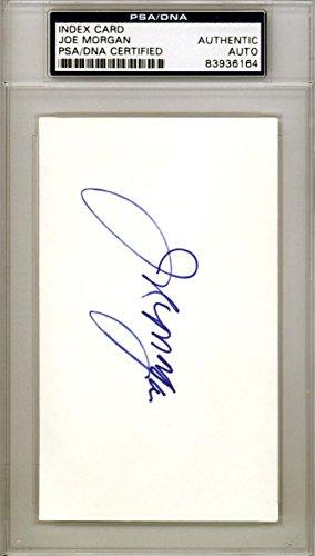 Joe Morgan Autographed Signed 3x5 Index Card Cincinnati Reds #83936164 PSA/DNA Certified MLB Cut Signatures