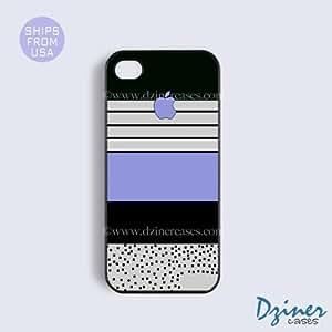 iPhone 5c Case - Black Zebra Stripes Blue iPhone Cover