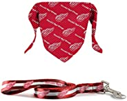 The Sports Vault NHL Licensed 6In Leash & Pet Bandana Detroit Red W