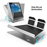 AhaStyle Full Aluminum Metal Base Adjustable Stand Compatible with Echo Show 1st Generation (Silver)