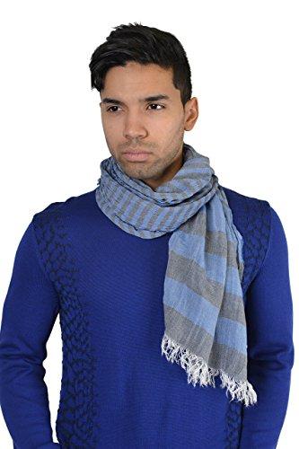 Armani Jeans Men's Blue Striped Scarf One Size