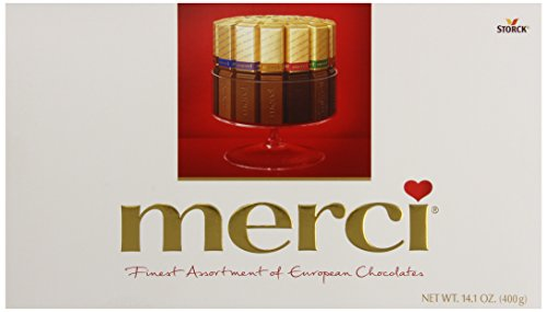 Merci Finest Assortment of European Chocolates 14.1 Ounce Box - 32 Pieces