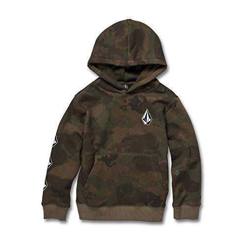 - Volcom Boys' Little Deadly Stones Pullover Hooded Fleece Youth, Camouflage, 2T