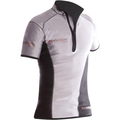 Sharkskin Men's Climate Control Short Sleeve Shirt, X-Small, Silver