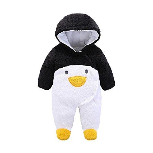 Adult Zombie Penguin Costumes (YISUMEI Unisex Baby Costume Set Romper Bodysuit Jumpsuit Penguin Black 9 Months)