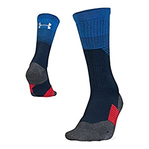 Under Armour Adult Armourgrip Crew Socks, 1 Pair, Academy Blue, Large