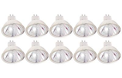 (Pack Of 10) 20MR11/FL - FTD-20 Watt - Flood- 12V - MR11 - GU4 2-Pin Base - Light Bulb With Lens - 20W MR11