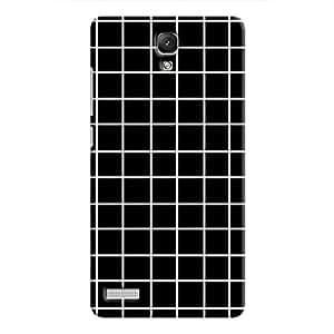 Cover It Up - Black Grid Redmi Note 4GHard Case