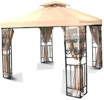 Amazon Com New 10 X 10 Two Tier Replacement Gazebo Canopy Top Cover Sun Shade 10x10 Beige Garden Outdoor