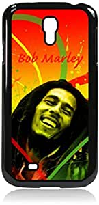 Bob Marley-Colorful- Hard Black Plastic Snap - On Case with Soft Black Rubber Lining-Galaxy s4 i9500 - Great Quality!
