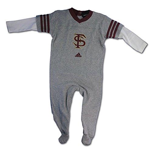 Adidas FSU Seminoles Layered Sleeve Baby Sleeper - 6/9 Months