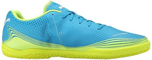 PUMA Herren Invicto Fresh Sneaker Atomic Blue / Sicherheit Gelb / Weiß