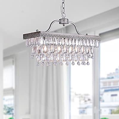 Jojospring Drop 3-light Antique Silver Chandelier
