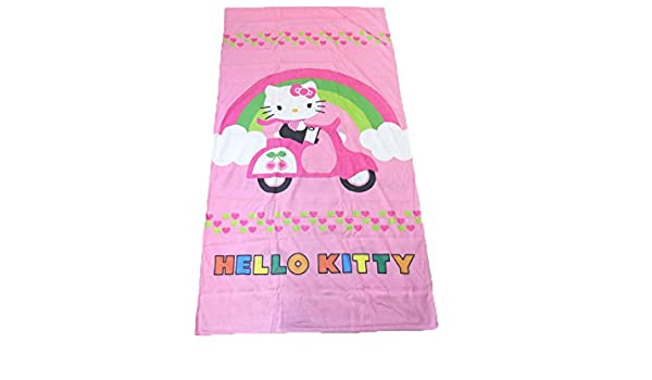 Toalla Playa Microfibra Toalla piscina Hello Kitty 90 x 170 cm Original Sanrio: Amazon.es: Hogar
