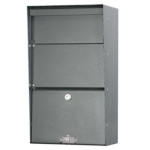Jayco LLAVW Wall Mount Vertical Aluminum Letter Locker Mailbox Gray