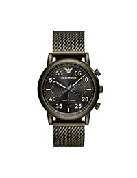 Emporio Armani AR11115 Men's 'Sport' Quartz Stainless Steel Casual Watch, Green