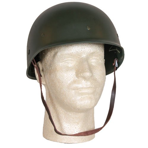 Fox Outdoor Products Deluxe M1 Style Steel Combat Helmet/Liner, One (Vietnam Helmet)