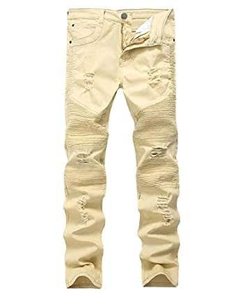 BOLAWOO Pantalones Vaqueros De Mezclilla para Hombres ...