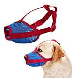 Nylon Dog Muzzle - Anti-Biting Barking Secure Fit Dog Muzzle - Mesh Breathable Dog Mouth Cover for Small Medium Large Dogs (Medium)