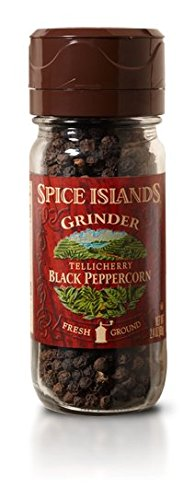 Spice Islands Tellichery Black Pepper Grinder, 2.4 oz. (2pack)