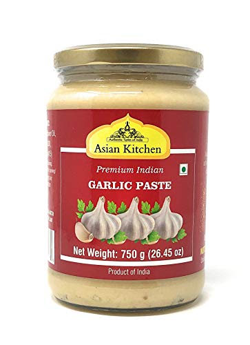 Amore Garlic Paste - Asian Kitchen Garlic Cooking Paste 26.5oz (750g) ~ Vegan | Glass Jar | Gluten Free | NON-GMO | No Colors | Indian Origin
