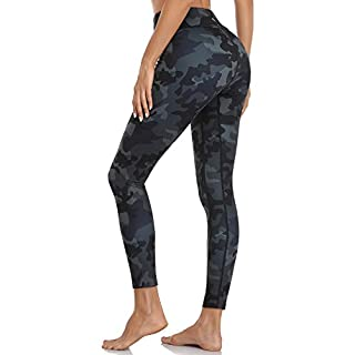 MOVE BEYOND Buttery Soft Women's Yoga Pants with Pockets High Waisted Compression Workout Running Leggings, Camouflage Printed, S