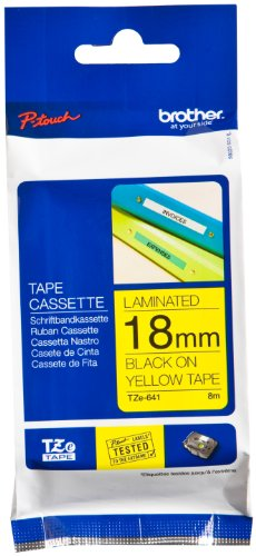 Brother Black Yellow Tape TZe641