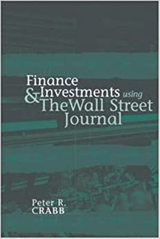 Book Finance and Investments Using The Wall Street Journal