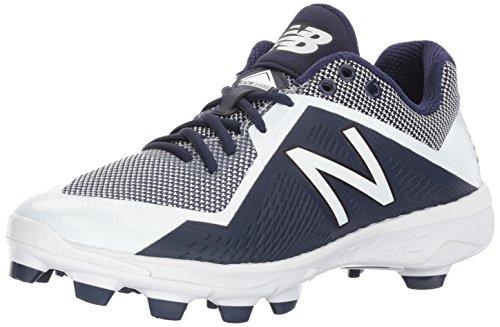 New Balance Men's PL4040v4 Molded Baseball Shoe, Navy/White, 11 2E (Low Softball Shoe)