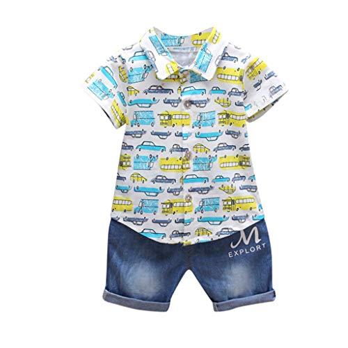 95sCloud baby jongens peuters baby jongen peuters jongen korte mouwen auto druk zomer kleding T-shirt + korte broek…