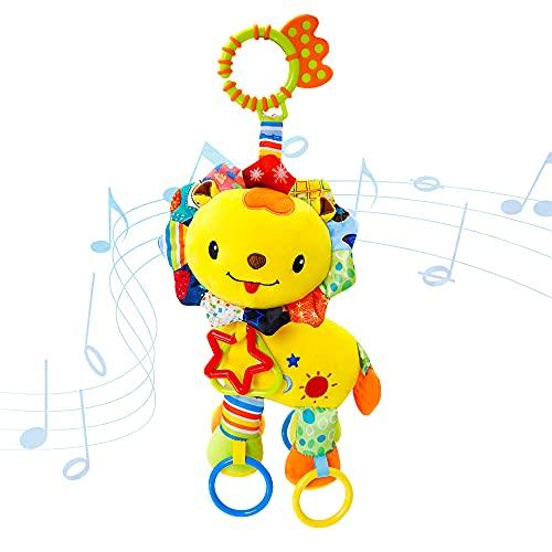 DVIK Baby Hanging Rattles Toys Car Seat Toys Baby Teething Toys Rattles for Babies 0-6 Months Newborn Toys