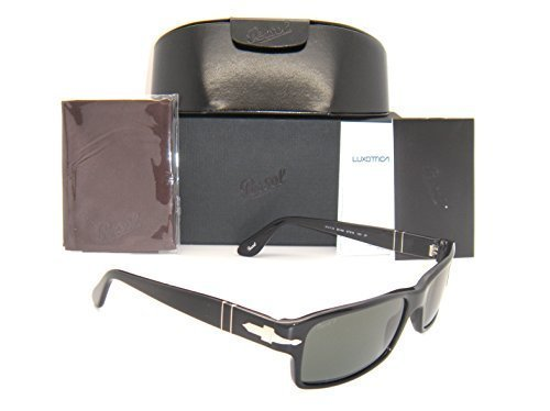 Persol Black Frame - New & Authentic Persol Black Frame Green Polarized Lens PO 2747-S 95/48 57mm