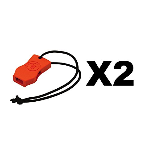 Ultimate Survival Technologies JetScream Micro Whistle Orange Signal (2-Pack) (Micro Whistle)