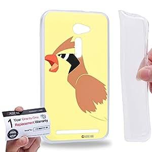 """Case88 [Asus Zenfone 2 5.0"""" ZE500CL] Gel TPU Carcasa/Funda & Tarjeta de garantía - Pokemon Pidgey 0834"""