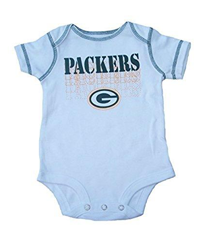 Green Bay Packers Infant Onesie Size 12 Months Team Logo Bodysuit - White
