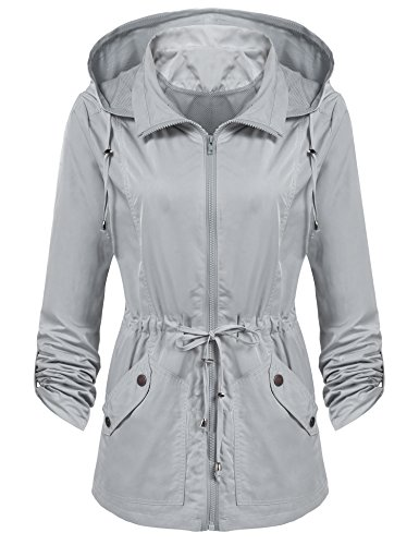 ANGVNS Women's Waterproof Lightweight Rain Jacket Anorak with Detachable Hood by ANGVNS (Image #1)