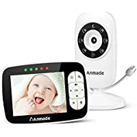 Anmade Baby Monitor Camera with 2 Way Talkback and 3.5inch LCD Screen