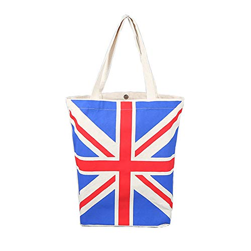 London British Flag Women's Large Cotton Canvas Tote Bag Handbags Top-Handle Bags Shoulder Shopping Bags